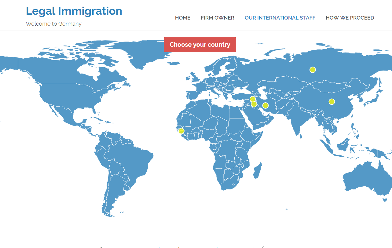 Legal Immigration World Map